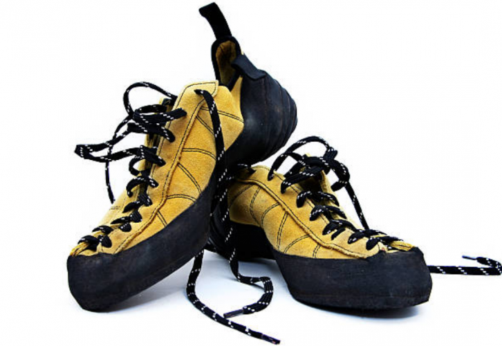 lace-up rock climbing shoes